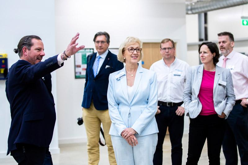 Kieron Salter, CEO of the DMC, giving UK MPs a tour on opening day. Photo via DMC.