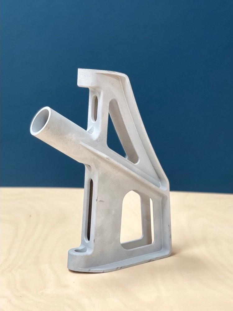 The AlMgty sailboat rudder blade suspension. Photo via Fehrmann Alloys.