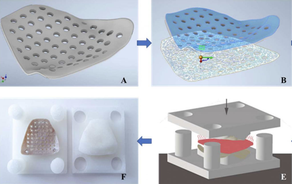 The team's 'reverse origami' 3D printing approach.