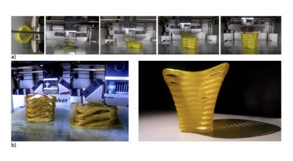 The 3D printing process behind the team's novel irrigation system.