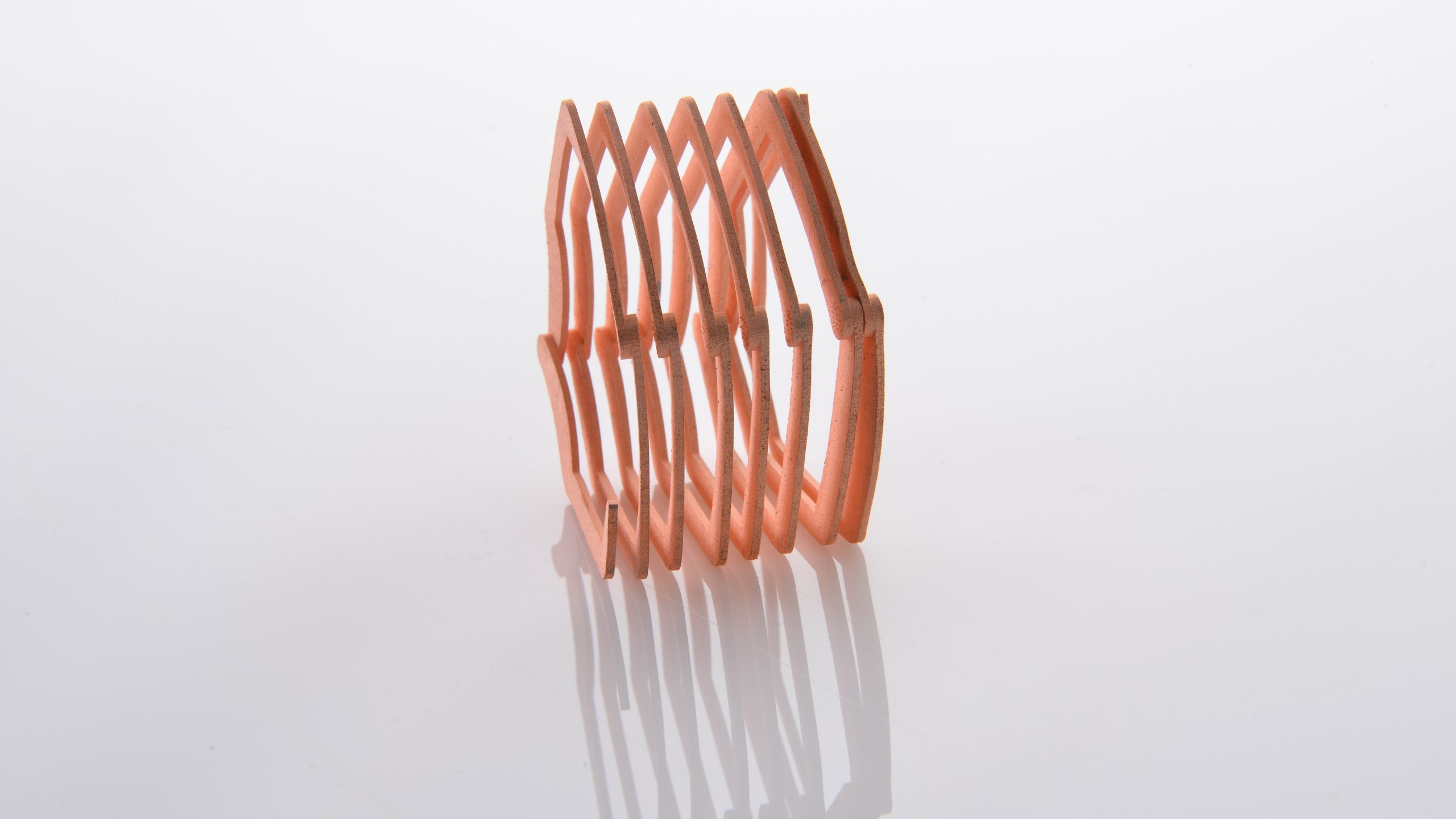 Additional development and testing of Maxxwell Motors' 3D printed copper winding is now underway. Photo via ExOne/Business Wire.