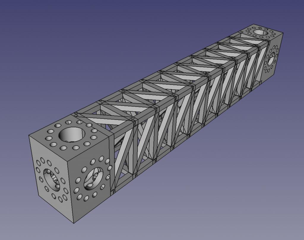 A high-stiffness beam generated by RepRap's design script. Image via RepRap.