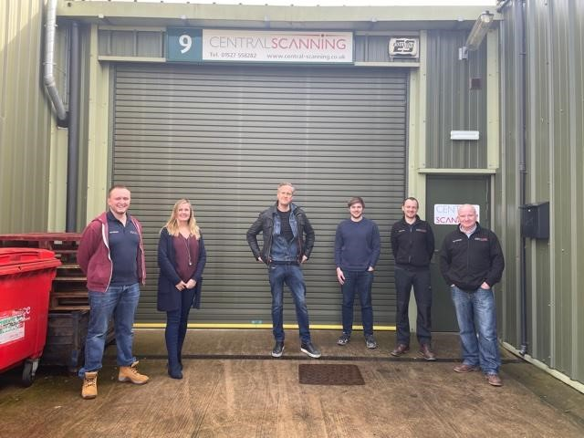 Tim Shaw from Car SOS and the Central Scanning team. Photo: via Central Scanning.