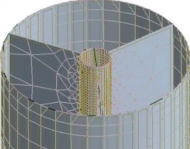 A 3D model of ChangeMaker 3D's wastewater distribution chamber.