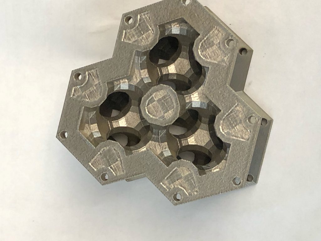 The CO2 capturing system will rely on metal 3D printed heat exchangers such as this one. Photo via GE Research.