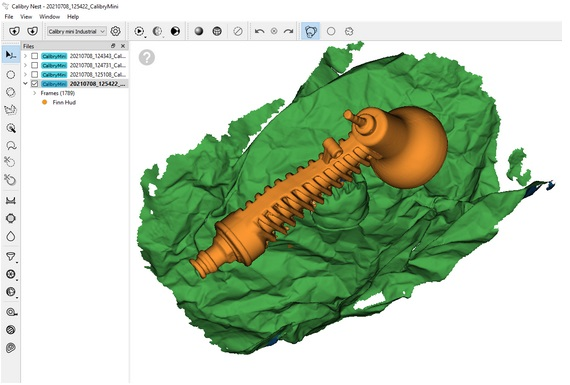 The new priority mode feature which enables users to indicate which part of the scan are important. Image via Thor3D.