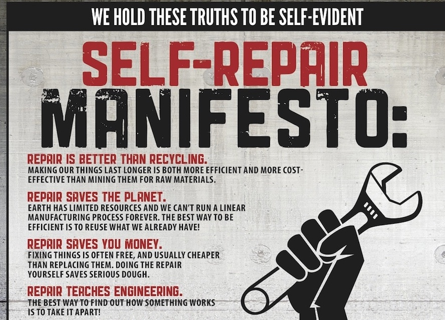 An excerpt from iFixit's Repair Manifesto.