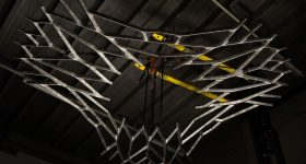 MX3D's metal 3D printed lunar floor.