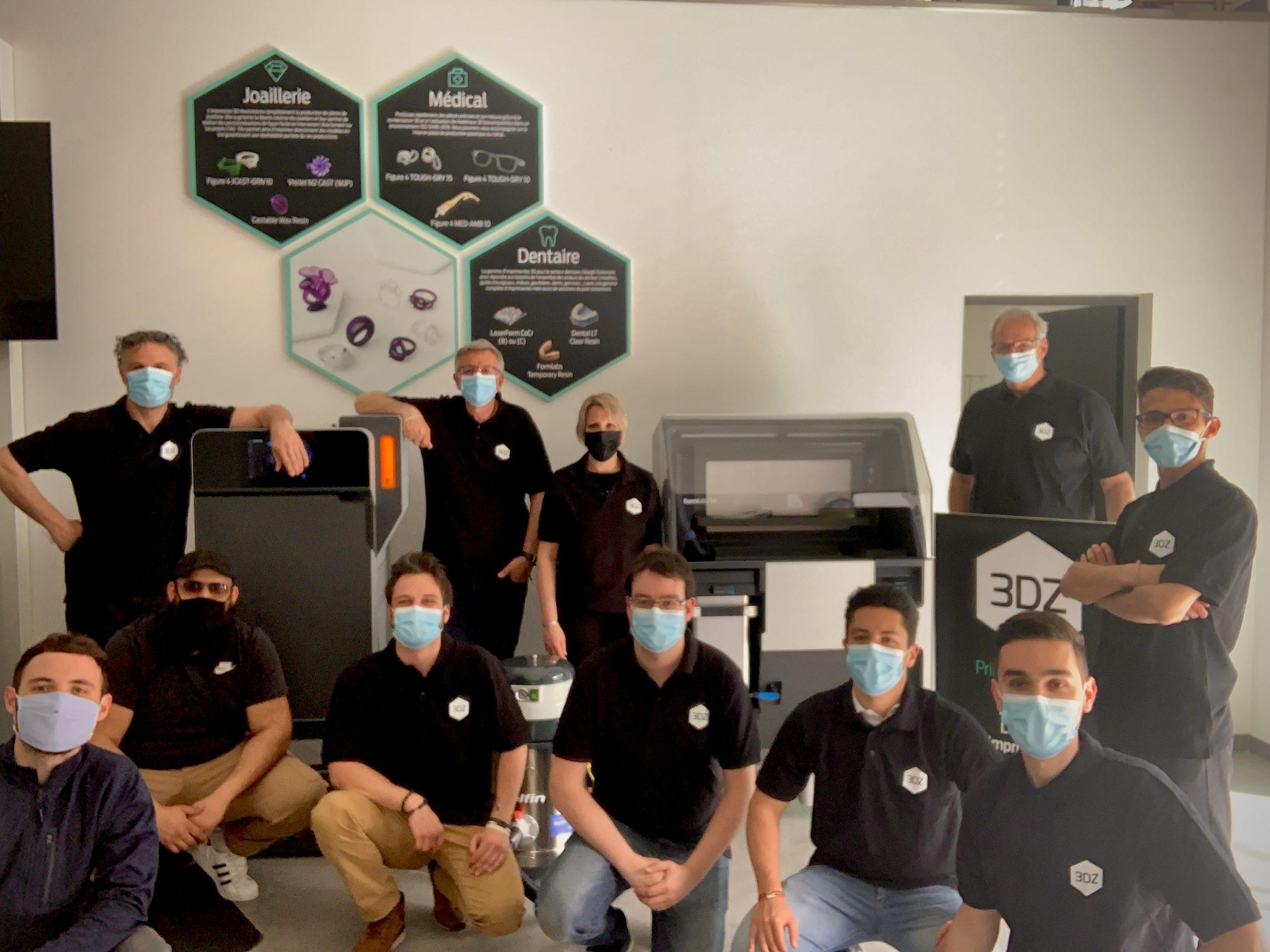 The 3DZ France team. Photo via PostProcess Technologies.