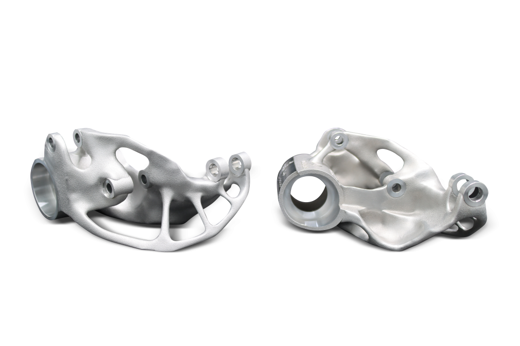 Suspension 'rockers' 3D printed using 3D Systems' DMP Certified Scalmalloy.