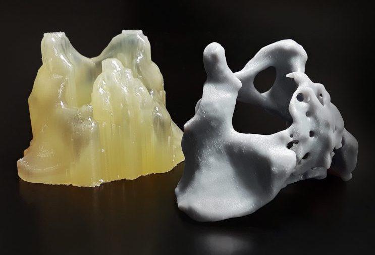 A 3D printed pelvis model post-processed using PostProcess' automated systems. Photo via PostProcess Technologies.