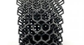 A lattice 3D printed in C-lite. Photo via Tethon 3D.