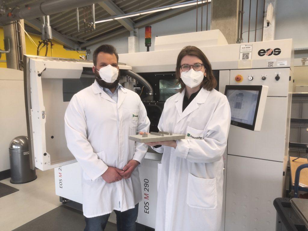 AlMgty has been qualified on the EOS M290 3D printing system. Photo via Fehrmann Alloys.