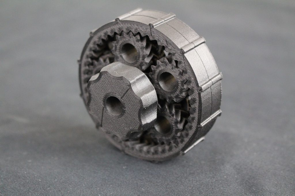 PA-CF planetary gear system. Photo by 3D Printing Industry.