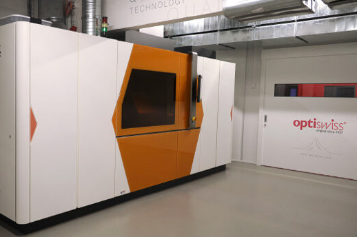 Luxexcel's VisionPlatform 7 installed at Optiswiss' Basel facility.