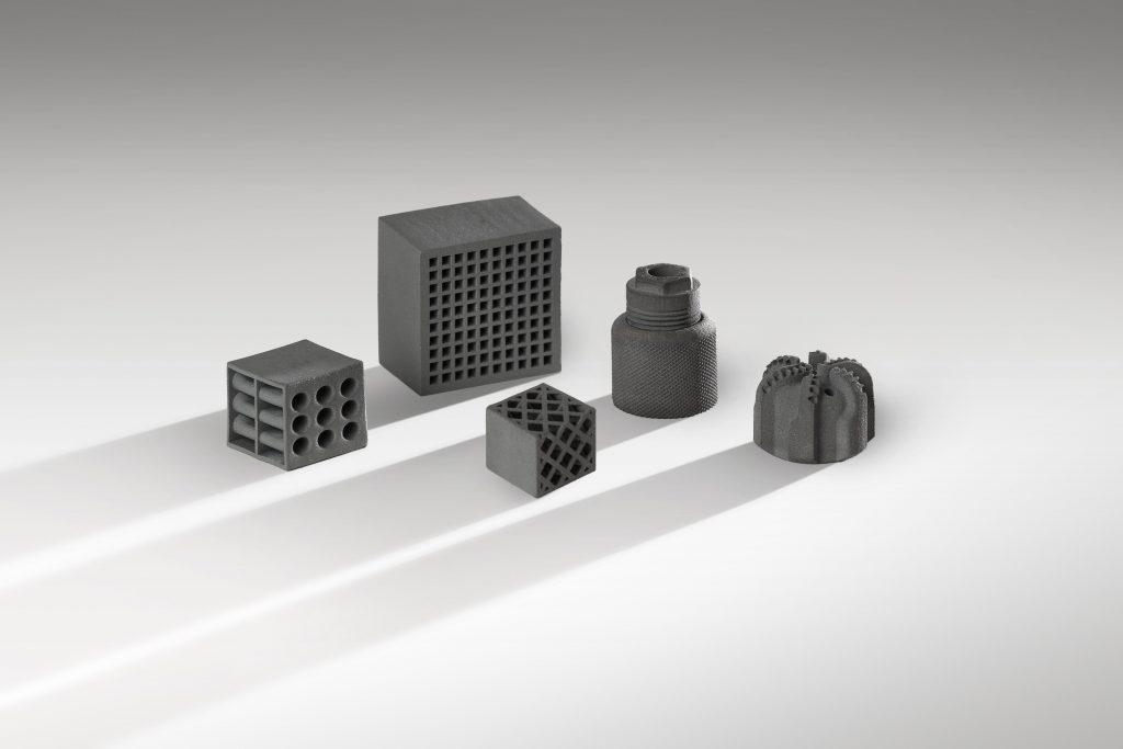 Parts 3D printed using KAR85-AM-K. Photo via Kennametal.