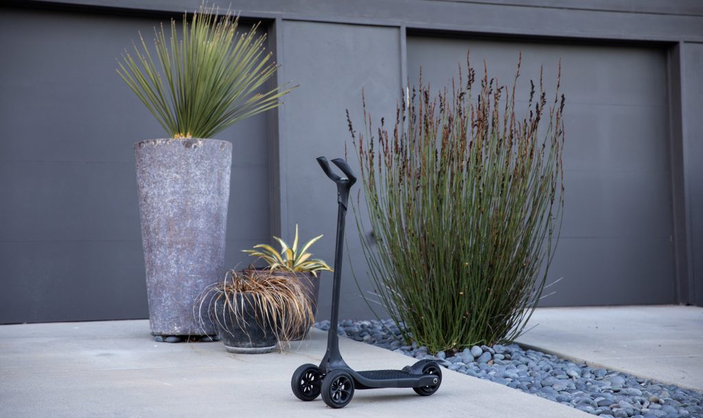 Kick scooter 3D printed with Stratasys Dura56. Photo via Stratasys.