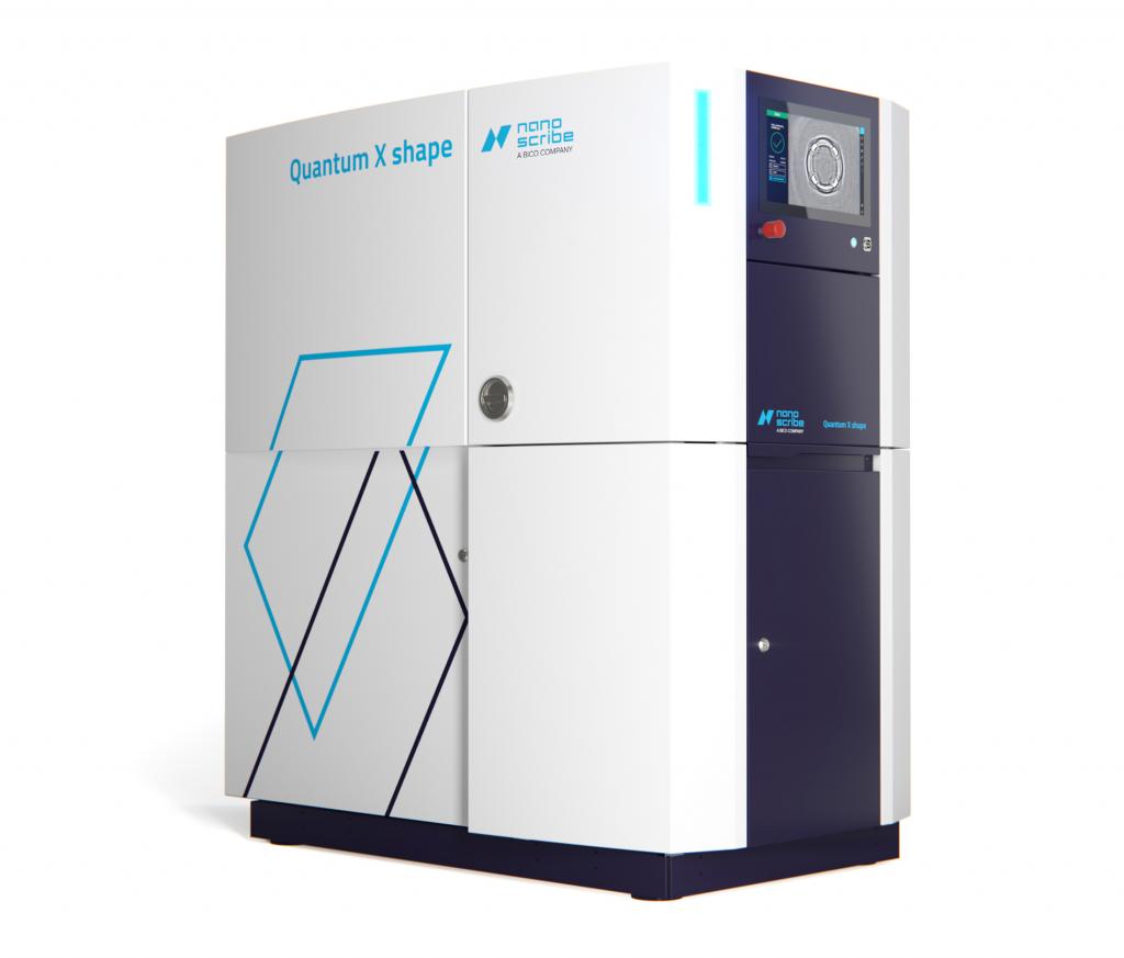 The Nanoscribe Quantum X shape 3D printer. Photo via Nanoscribe.