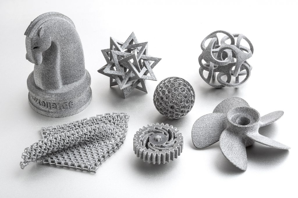 Parts 3D printed using Xaar printheads. Photo via Xaar.
