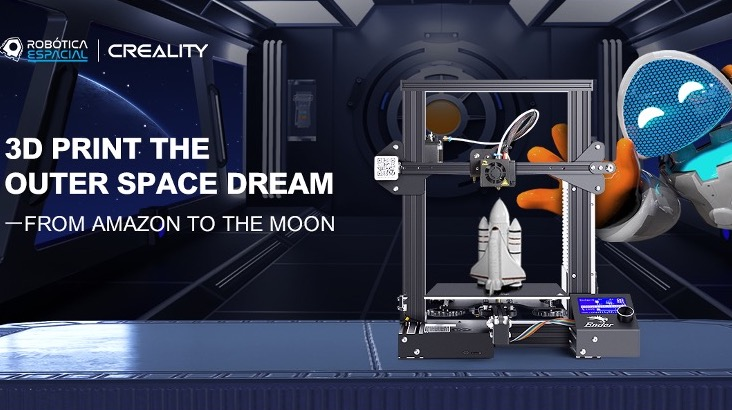 A graphic promoting Creality's involvement in the Space Robotics Project.