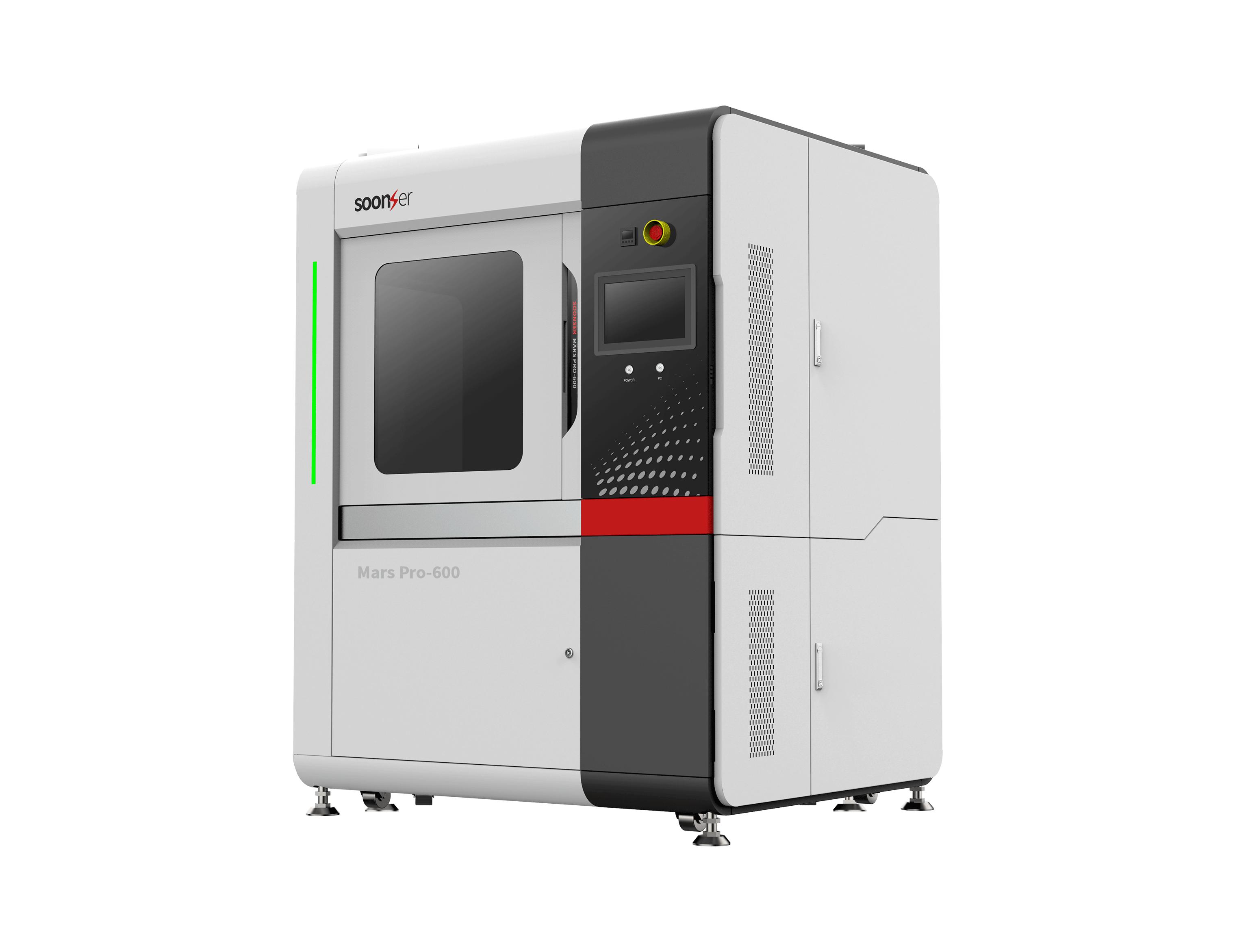 The Mars Pro 600 3D printer. Photo via SoonSolid.