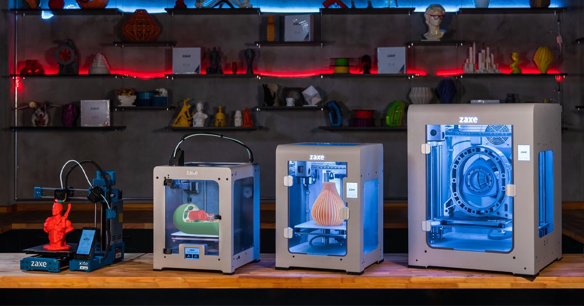 Zaxe's 3D printer offering. Photo via Zaxe.