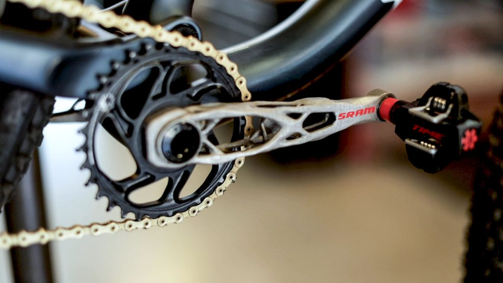 SRAM 3D printed crank arm. Photo via SRAM.