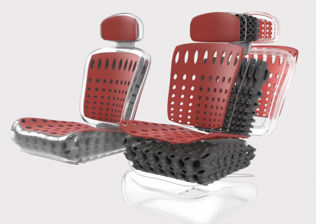 Two lattice chairs designed using General Lattice's software.