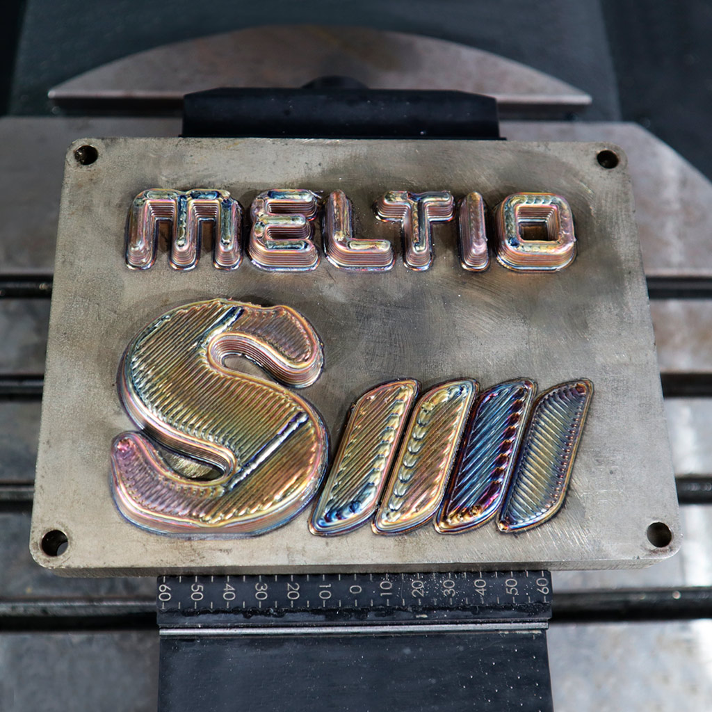An example part CNC machined and 3D printed with the Meltio Engine CNC integration. Photo via Meltio.