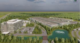 A render of what Terran Orbital's new Florida facility may look like. Image via Terran Orbital.