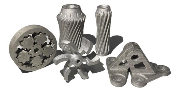 Metal parts 3D printed by Uprise 3D. Photo via Uprise 3D.