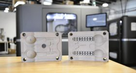 X1 MetalTool used for a 3D printed plastic injection molding application. Photo via ExOne.
