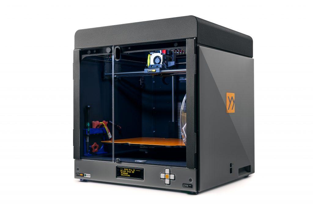 The ZYYX Pro II 3D printer. Photo via ZYYX Labs.