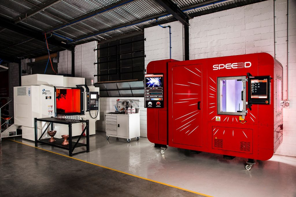 Spee3D's SPEE3D cell. Photo via Spee3D.