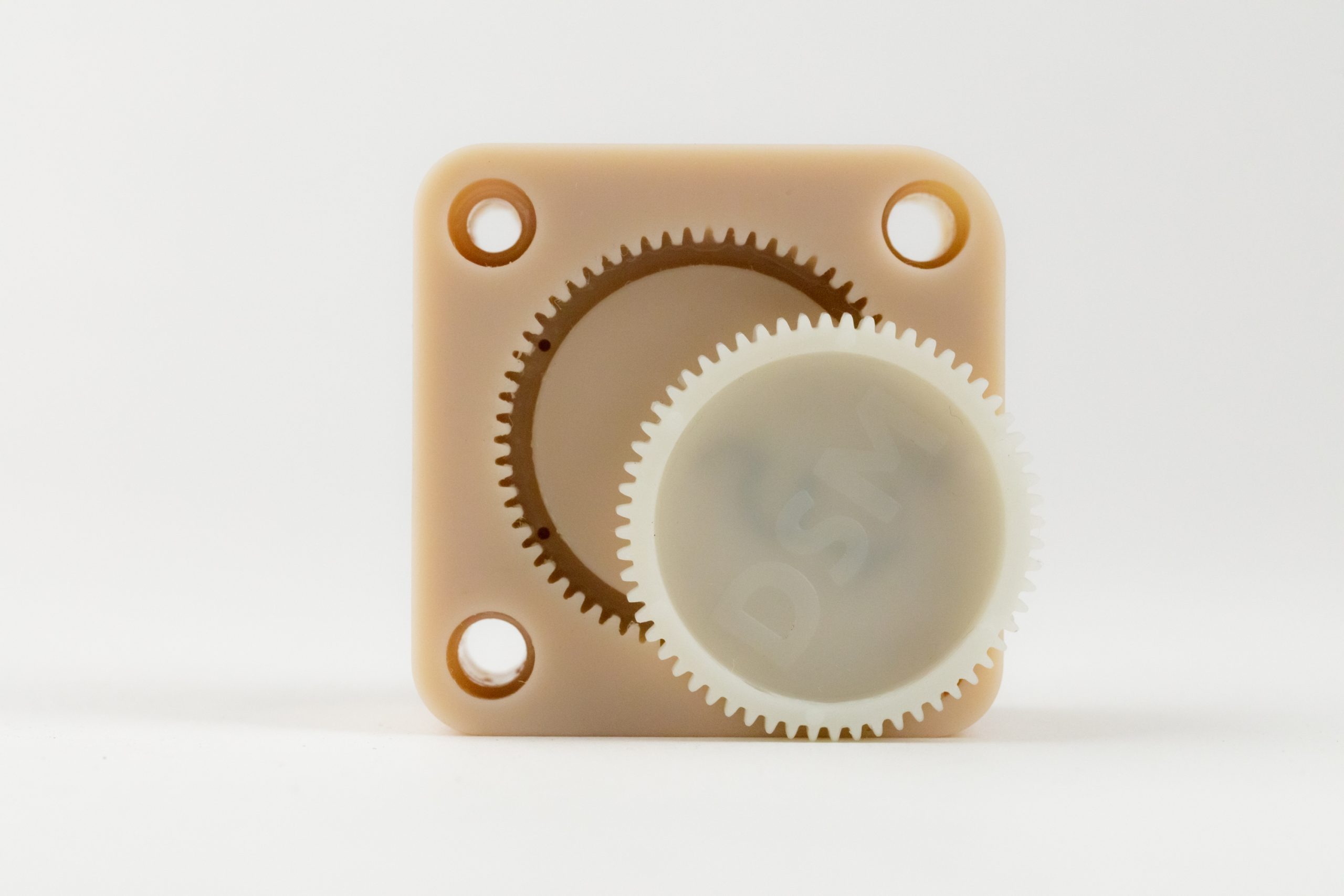 A tool used for injection molding glass-filled nylon gears 3D printed on EnvisionTEC's Perfactory P4K series printer using the e-PerFORM resin. Photo via EnvisionTEC.