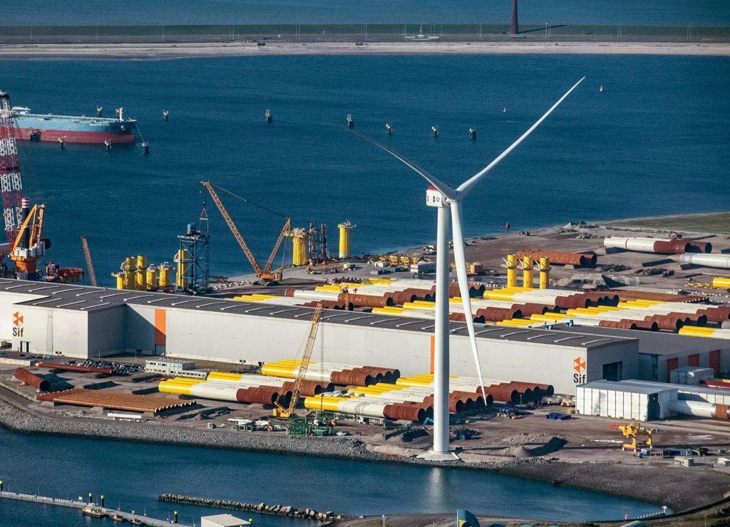 GE's Haliade-X offshore wind turbine.
