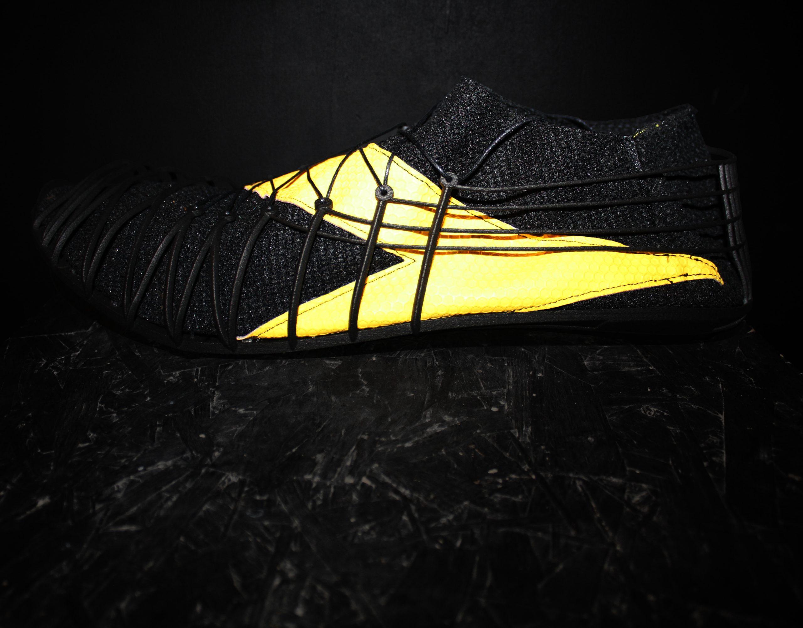 The Pleko spike shoe prototype. Photo via CRP Technology.