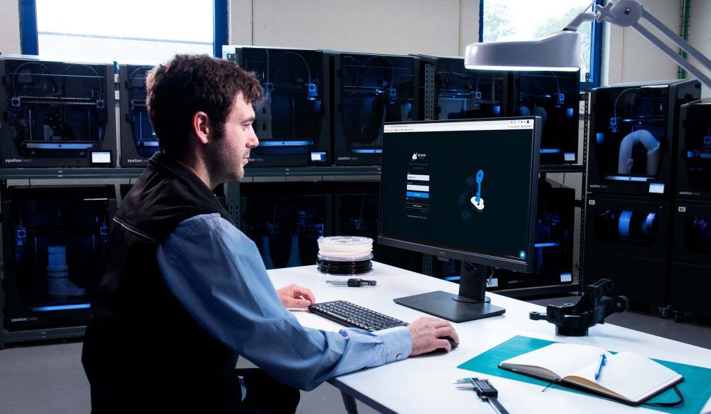 The BCN3D Cloud is designed to streamline 3D printer fleet management for enterprise-level applications. Photo via BCN3D.