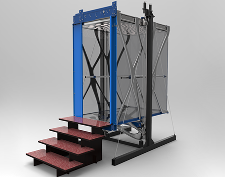 MX3D's WAAM-3D printed elevator carriage.