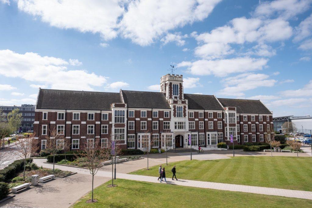 Loughborough University campus. Photo via Loughborough University.