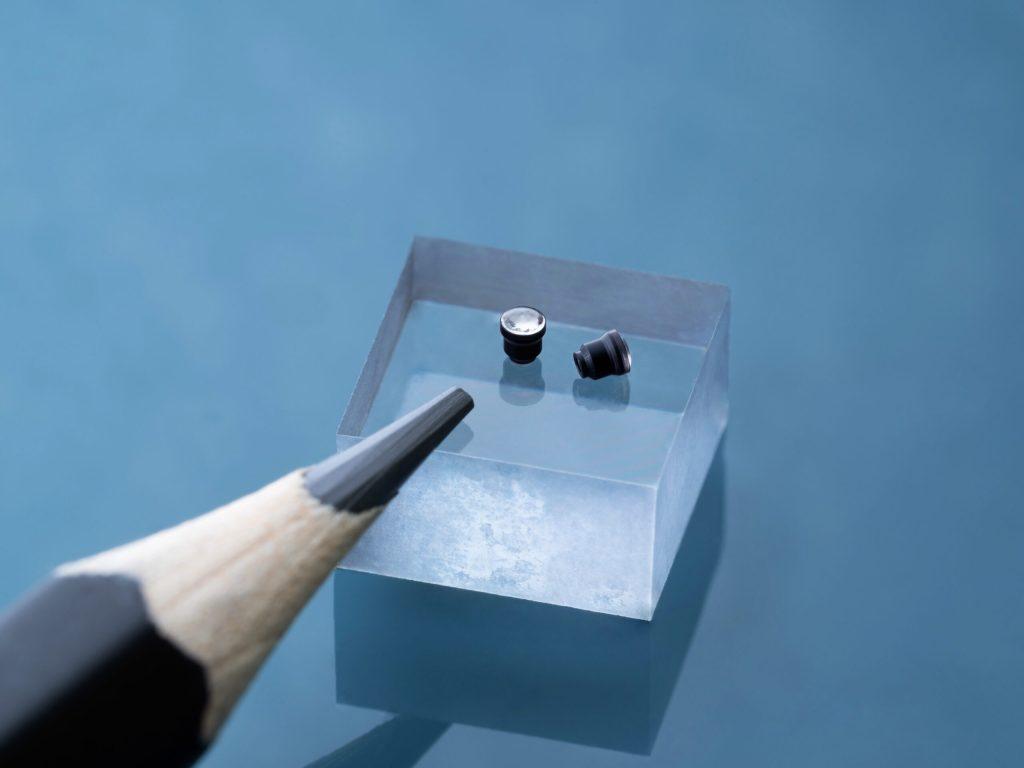 Microlenses 3D printed using UpBlack and UpOpto. Photo via UpNano.