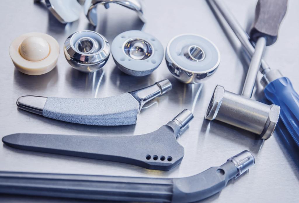 An assortment of medical tools.