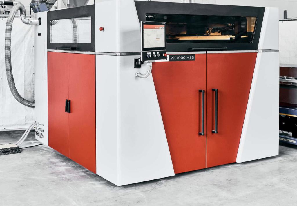 Voxeljet's HSS-equipped VX1000 3D printer.