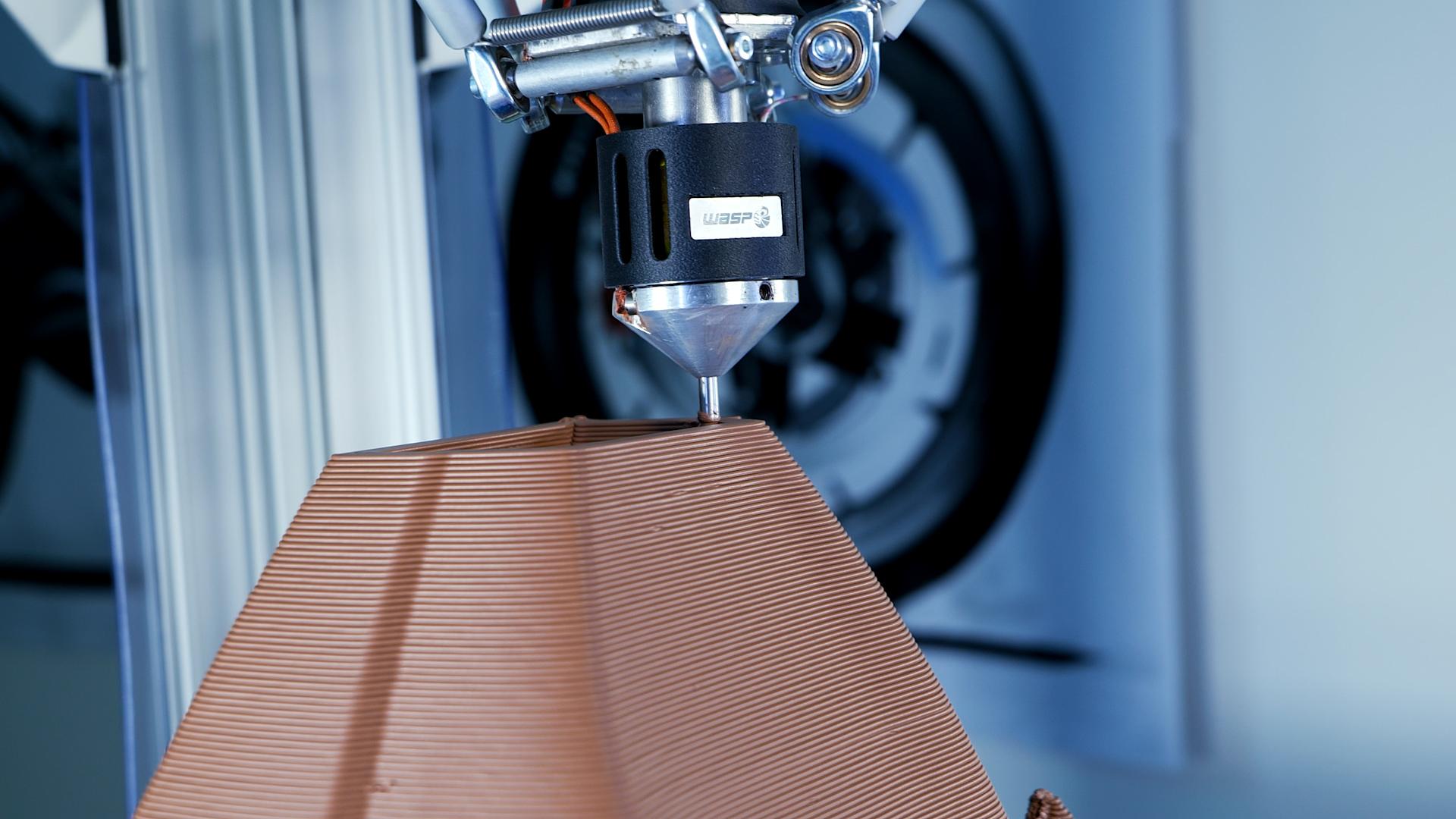 WASP' LDM 3D printing process. Photo via WASP.