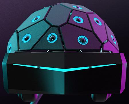 Tpm Ayton's 'Yullbe' 3D printed VR headset.