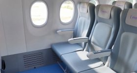 Materialise has previously worked with aerospace design firm Expleo to design a 3D-printed part that reinforced vulnerable zones in the Boeing 737 dado panel. Photo via Materialise.