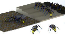The 3D printed four-legged swarm robots. Image via University of Notre Dame.