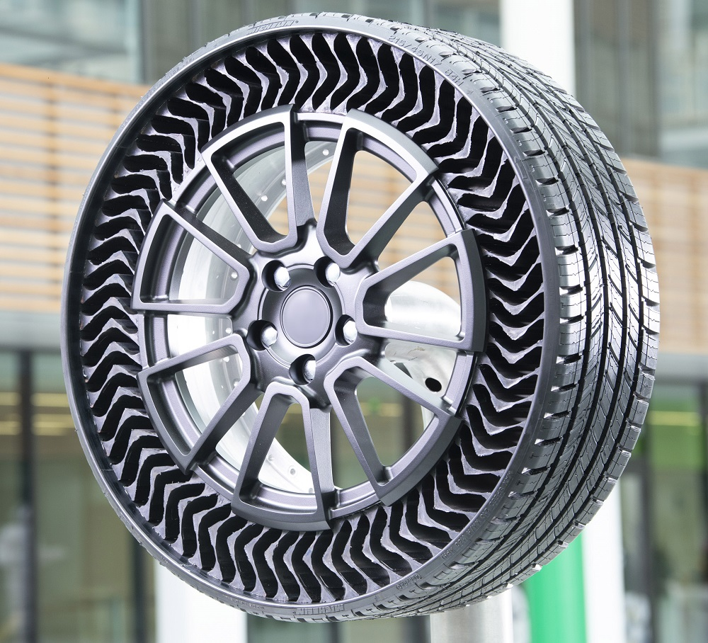 The Uptis tire is scheduled to come to the market in 2024. Photo via Michelin.