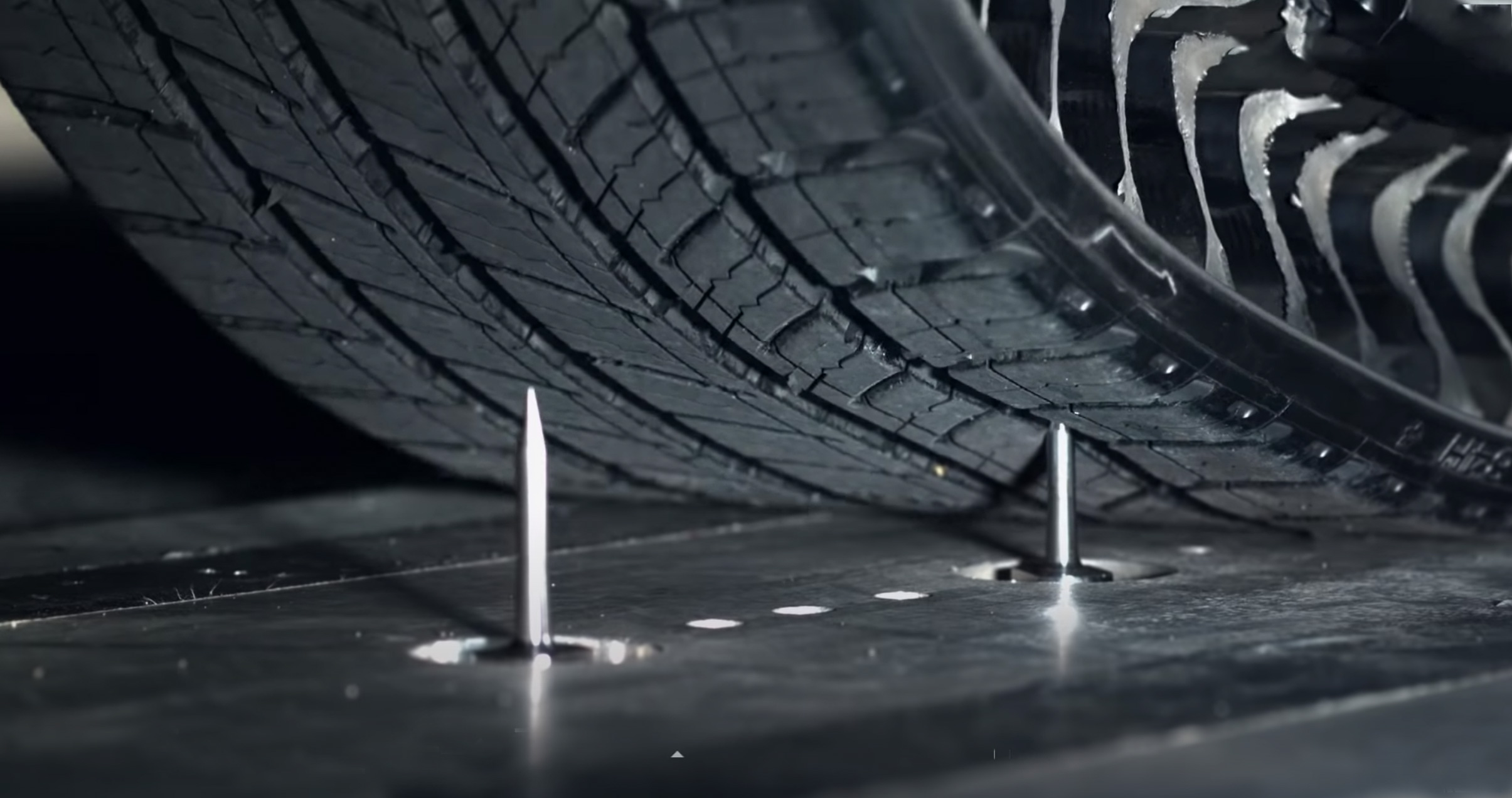 """The tire's tread could be """"recharged"""" using 3D printing. Photo via Michelin."""